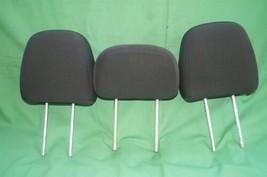 11-15 Dodge Journey 2nd Row Black Cloth 3 Headrests Headrest w/ Cupholder image 1