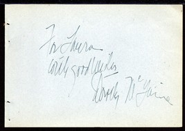 DOROTHY MCGUIRE Autograph signed on album page - $27.71