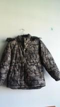 Gap Kids Unisex SB Fashion Puffer Black Camo Winter Jacket Coat, US L, UK 10-11 - $21.77