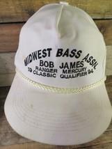 Midwest Bass Assn Bob James 1994 Classic Qualifier Adjustable Adult Hat Cap - $14.25