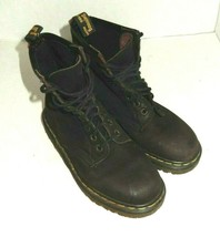 Dr Doc Martens Women's US 6 Dark Brown Suede Combat Boots England Made - $74.99