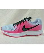 Nike Women Air Zoom Pegasus 34 Running Shoes Light Blue/Black/Pink 88056... - $53.64