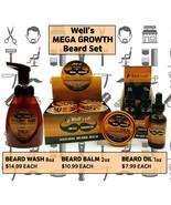 [WELL'S OIL] MEGA GROWTH Beard Oil & Balm & Wash - $6.92+