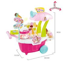 Melody Lights Popcorn Ice Cream Stall Popup Store Shop Sales Role Play Toy image 4