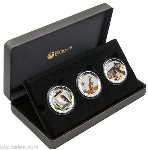 2012 1/2 Ounce Australian Outback Silver Collection 3 Coin Set Lot # N 3