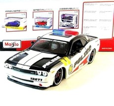 DODGE CHALLENGER RESCUE POLICE MAISTO 1:24 DIECAST CAR COLLECTOR'S MODEL... - $45.91