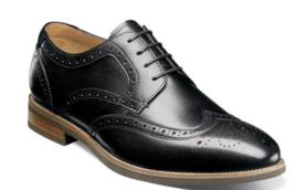 Florsheim Uptown Wingtip Oxford Dress Shoes Modern Black 15170-001 - $110.00