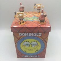 Nickelodeon Spongebob Squarepants Dominoes Checkers Game Set Complete - $28.70