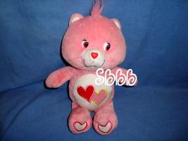 """Care Bears Glows in the Dark Stuffed LOVE A LOT BEAR 11"""" Pink Plush Hear... - $11.52"""