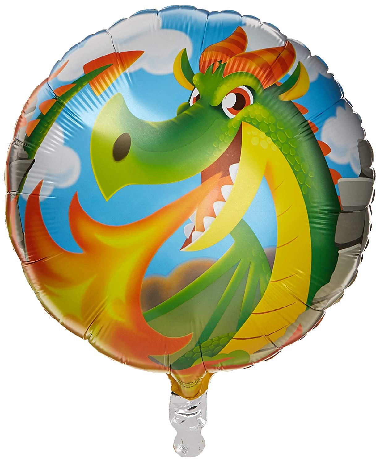 "Primary image for Dragons Medieval Fantasy Kids Birthday Party Decoration 18"" Round Mylar Balloon"