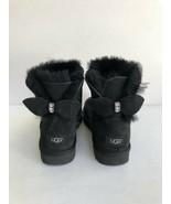 UGG CLASSIC SPARKLE BOW MINI BLING BLACK SHEARLING BOOT US 5 / EU 36 / UK 3 - $148.67
