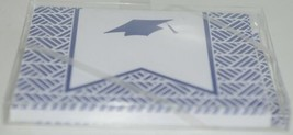 Rosanne Beck 2110954N Folded Note Grad Cap Cards Envelopes Blank Pkg 10 Navy image 2