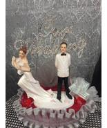 Wedding Run Away Bride Couple Cake Topper Centerpiece Decoration - $49.97