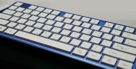 iRiver Korean English Keyboard USB Wired Membrane Cover Skin Protector (Blue) image 5