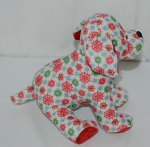 GANZ Brand Webkinz Collection HM691 Red Blue Green Color Snowflake Pup image 2