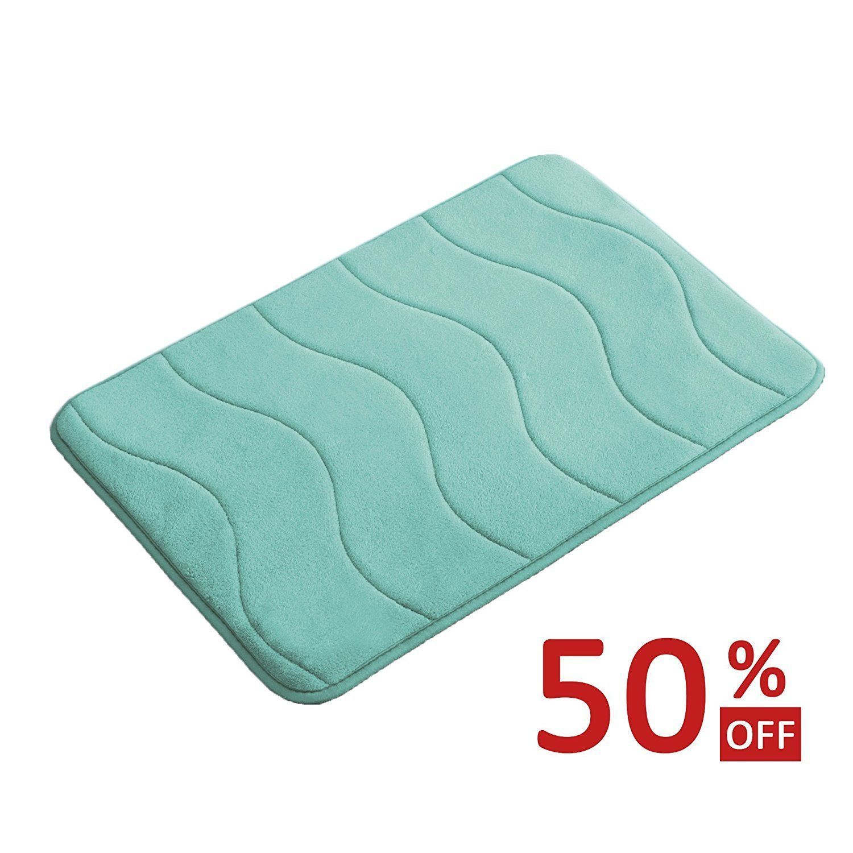 Home Decor Absorbent Soft Memory Foam Bathroom Floor Shower Mat Rug Non-slip CA