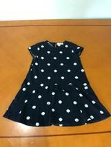 Girls Kids Zara Soft Collection Blue Polka Dot Short Sleeve Dress Size 1... - $9.89