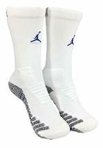 Nike Vapor Jordan Jumpman White/Royal Blue Crew Socks L SX7012-102 - $19.99