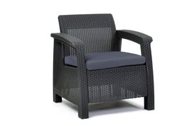 3pcs Rattan Garden Balcony Set Armchairs Coffee Table Patio Furniture Brown image 3