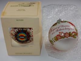 Hallmark Keepsake Ornaments ~ Mother 1981 & 1982 Round Ball - $10.44