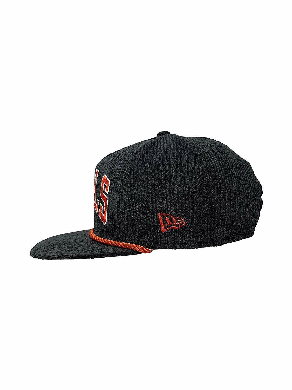 New Era Chicago Bulls NBA 9Fifty Snapback Hat Straight Brim Cap 950 CORDUROY RED