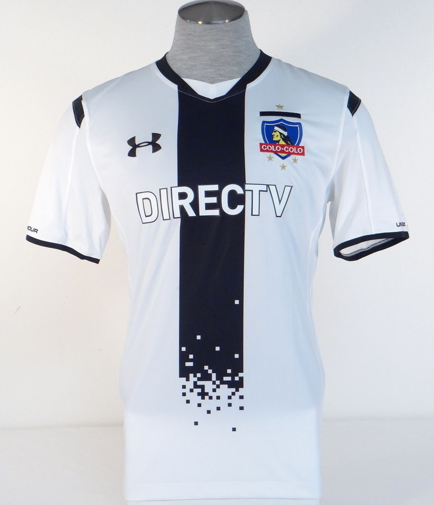 S l1600. S l1600. Previous. Under Armour Colo Colo Chilean Football Club  White Short Sleeve Jersey Men s NWT 87a0f8bf7