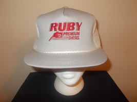 VTG-1990s Ruby Premium Diesel soy Cenex gas and oil advertising hat sku11 - $27.83