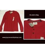 St John's Bay Henley Shirt Red Sz Large - $14.99