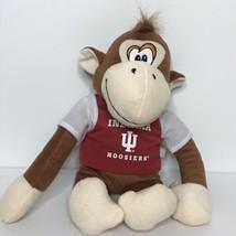 "Indiana University Hoosiers Monkey Plush Stuffed Animal Toy Factory 14"" Tall - $24.74"