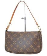 Authentic LOUIS VUITTON Accessory Pochette Monogram Handbag #37641 - $469.00