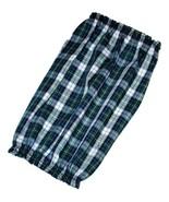 Handmade Dog Snood Blue Green Black Plaid Lightweight Cotton Size Small - $11.50