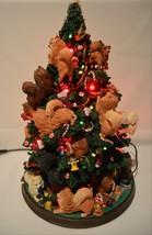 Danbury Mint Pomeranian Dog Christmas Tree Lighted Figurine - $371.25