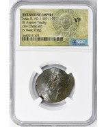 Ancient Byzantine Empire, Isaac II (A.D. 1185-1195) BI Aspron Trachy NGC VF - $105.00