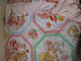 vintage Strawberry Shortcake 2 panel Curtain set- Ruffled edge- clean, n... - $40.00