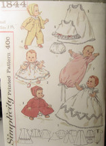 """Vintage 13.5"""" Doll Clothes Pattern 1844 for Betsy Wetsy & Tiny Tears baby doll - $7.99"""