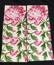 Vintage CASPARI Floral Chintz TWO TABLE PROGRESSIVE BRIDGE SCORE CARDS -... - $14.80
