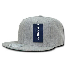 Vintage Snapback Cap - Heather Gray, Acrylic Hat (Decky 350-HGY, New wit... - $11.88