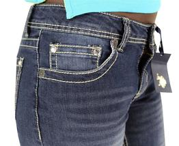 NEW US POLO WOMEN'S DENIM BOOT CUT RHINESTONE LOW RISE JEANS 211484VJ1KC image 6