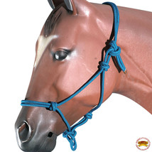 Turquoise Horse Halter Braided Poly Rope Western Tack By Hilason U-A403 - $18.47