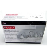New Delta 55048-SN 3 Piece Bath Countertop Accessory Kit Brushed Nickel ... - $15.67