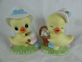 Baby Ducks with Egg & Basket Porcelain Figurine Ducklings Easter Spring ... - $10.88