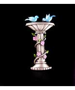 vintage blue bird of happiness pin - birdbath brooch - bird watcher gift... - $55.00