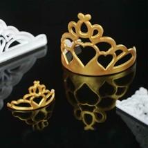 Plastic Mold Cookies Fondant Cake Baking Tools Imperials Crown Shape Emb... - $2.99