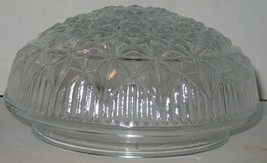 Vintage Clear White Round Pressed Glass Lamp Ceiling Light Fixture Shade - $18.81