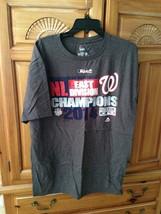 Washington nationals division champions 2014 distressed logo charcoal t shirt s - $24.99