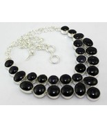 Blue Sun Stone Silver Overlay Handmade Jewelry Necklace Oj-401-29 - $32.29