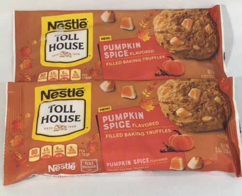 Primary image for *2 Pack* Nestle Toll House Pumpkin Spice Flavored Filled Baking Truffles 9 oz/ea