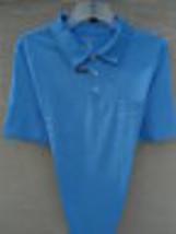 NWT MENS SADDLEBRED S/S COTTON BLEND  JERSEY KNIT POLO SHIRT BLUE XL - $12.19