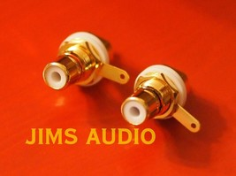 RCA socket panel mount gold-plated one pair well-polished excellently built ! - $7.06