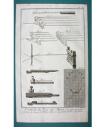 1763 DIDEROT (2) PRINTS - Stocking Frame Parts Tools Knitting Pattern - $15.26